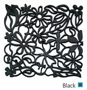 black پارتیشن مشکی طرح گل