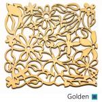golden پارتیشن طلایی طرح گل