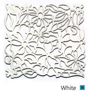 white پارتیشن سقید طرح گل